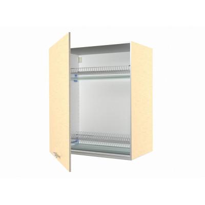 шкаф навесной кухонный с сушкой 50 белый мрамор