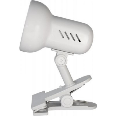 Светильник настолный Camelion H-035 прищепка, белый 220V 60W Е27