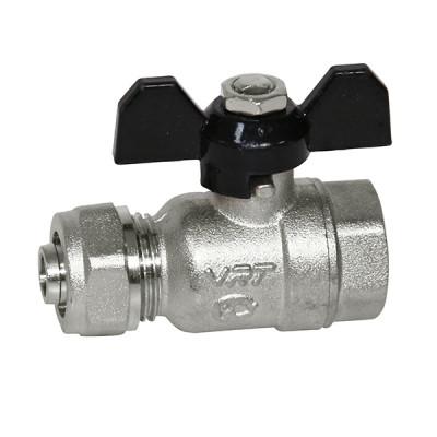 Кран шаровой для м/п трубы 1/2' х 16 вн/ц VRT® никель