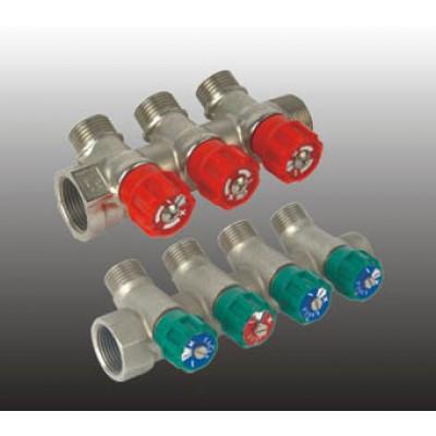 Коллектор 3/4*1/2 нар с регулировочными вентилями FRAP (4 вых)