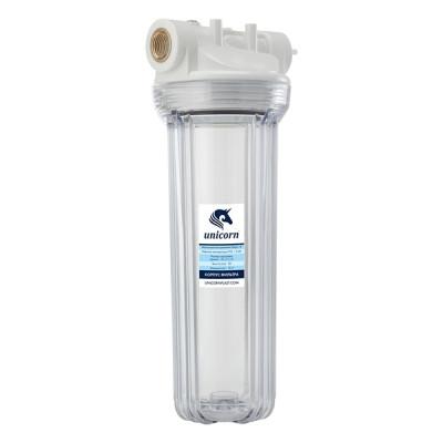 Фильтр магистральный 3/4'' для хол. воды прозр. 10'' UNICORN (FH 2P34)