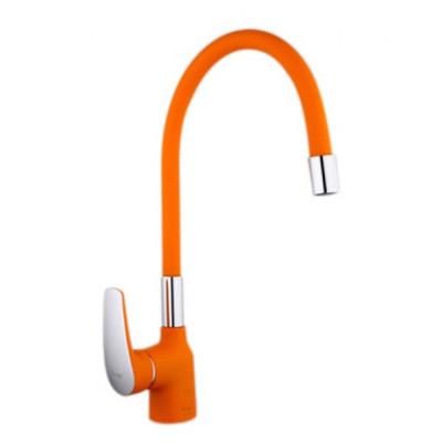 Смеситель для кухни 35к 4453-02F FRAP высокий излив п/гайку Оранжевый