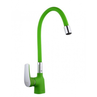 Смеситель для кухни 35к 4453-05F FRAP высокий излив п/гайку Зеленый