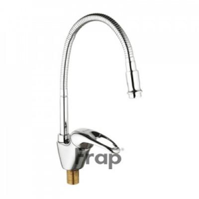 Смеситель для кухни 40к 4303-1F FRAP гибкий излив, гайка, боковая