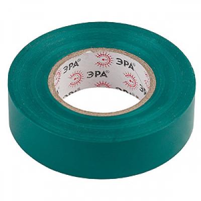 Изолента 15м х 10м ПВХ зеленая ЭРА