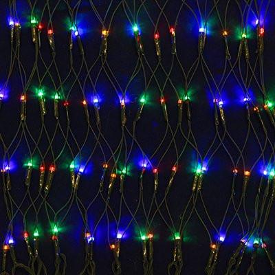 СНОУ БУМ Гирлянда электр. Сетка, 144LED, 1,6x1,6м, мультцвет, 8 режимов, прозрачный провод, 220В