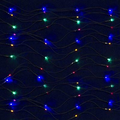 СНОУ БУМ Гирлянда электр. Сетка, 144 лампы, 1,5x1,5м, мультицвет, 8 реж, ПВХ зел.провод, 220В
