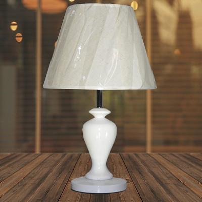 Настольная лампа 2606 белый/белый абажур h46см 1х40W Е27 ZNG17