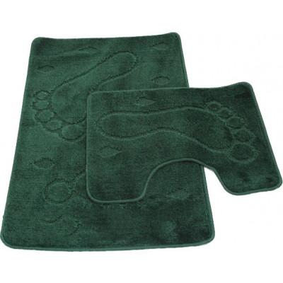 Набор ковриков для ванны 2шт ZALEL 55*90зеленый