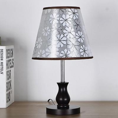 Настольная лампа 7316 венге/серый абажур h 46см 1x40WE27 ZNG18