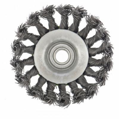 Щетка металлическая для УШМ ВАРЯГ 125мм/22мм крученая, дисковая