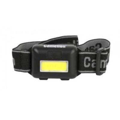 Camelion LED5355 (фонарь налобн, черн, 1Вт СОВ LED. 3 реж, 3хААА пласт, блист)
