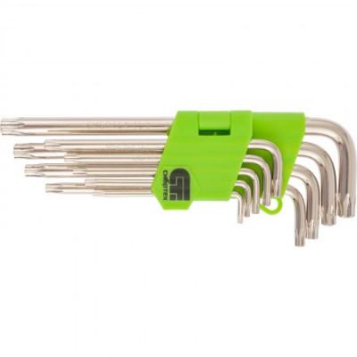 Набор ключей имбусовых Tamper-Torx, 9 шт: TTT10-T50, 45x, закаленные, удлиненные,