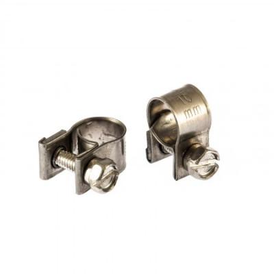 Хомуты металлические, MINI 10-12мм, ширина 9мм, винтовой, W4, 2шт.// Сибртех