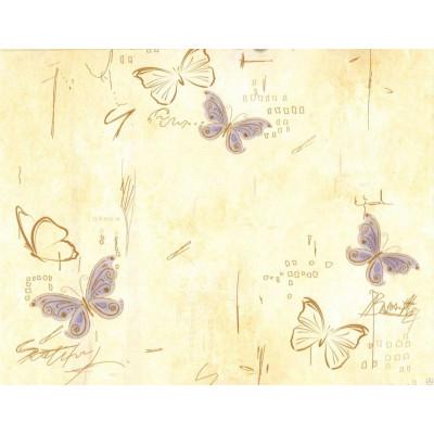 Панель ПВХ 2,7*0,25м Бабочки на бежевом