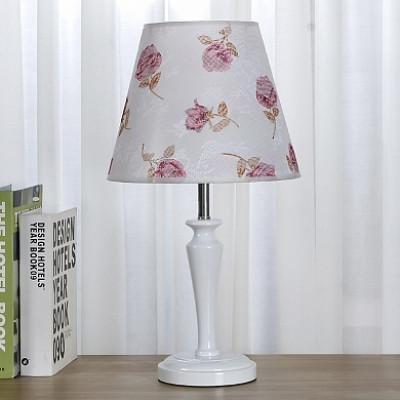 Настольная лампа 7301 белый/белый абажур h46см 1x60W Е27 ZNG18