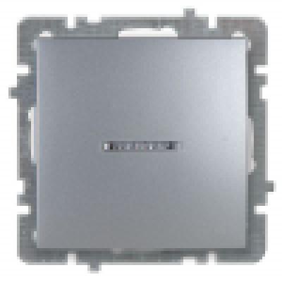 Выкл. серебро с/п 1кл.с подсвет механизм NILSON TOURAN (Thema)