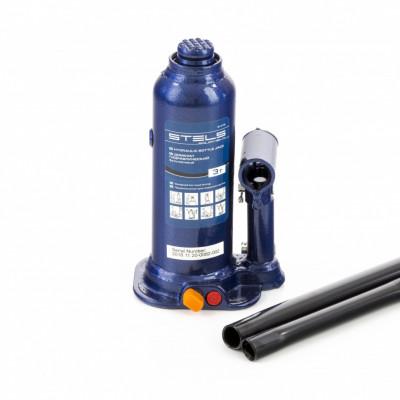 Домкрат гидравлический бутылочный, 4 т, h подъема 188–363 мм, в пласт. кейсе// Stels