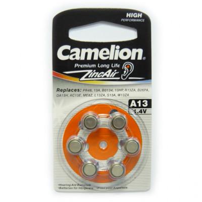 Элемент питания Camelion ZA 13 BL6 6/60