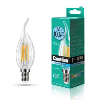 Лампа Camelion LED 12- CW35-FL/845 E14 свеча на ветру