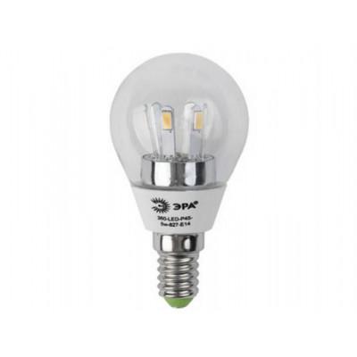 Лампа ЭРА 360-LED Р-45-5w -827-E14 шар
