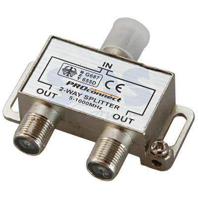Делитель антенный 2-ой под F разъем 5-1000 МГц PROCONNECT