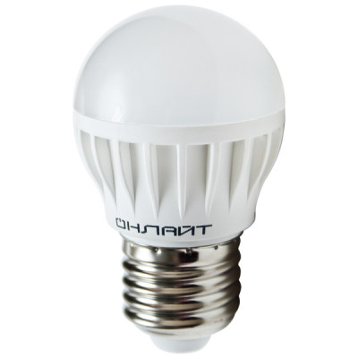 Лампа LED 10W Е27 220В 6500 шар ОНЛАЙТ