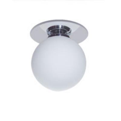 Светильник 1531 шар мал.хром красный Feron