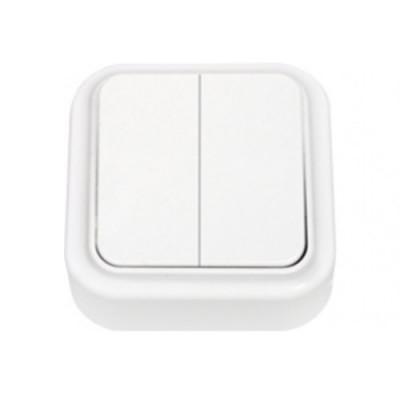 Выключатель 2кл бел Пралеска ОП,10А, 220В (А56-134) (3/90)