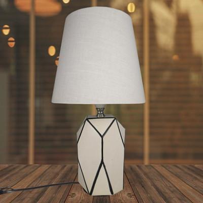 Настольная лампа AN18667 бежевый/белый абажур h32см 1х60Вт Е14 НN19