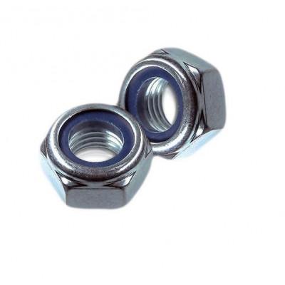 Гайка М 6 DIN 985 самоконтрящаяся с нейл. кольцом