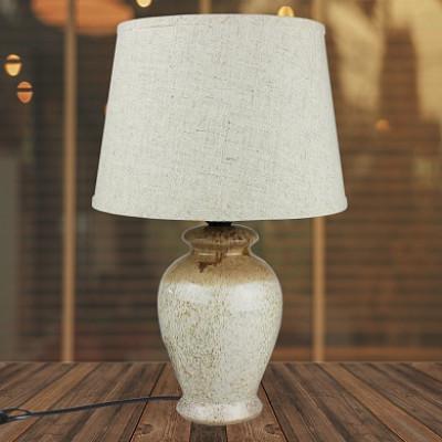 Настольная лампа DY 18696 серый/серый абажур h35cм 1x60W Е27