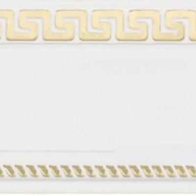Египет карниз 3-х рядный 2,4 м белый глянец золото