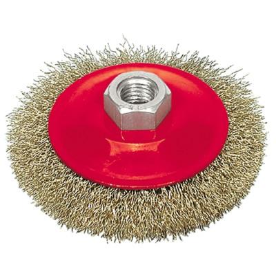 Щетка металлическа для УШМ ВАРЯГ 125мм/М14 (тарелка)