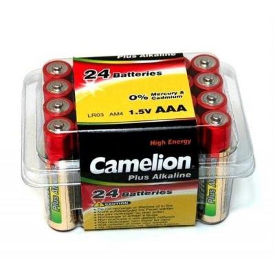 Элемент питания CAMELION LR03 пластик. бокс (24)