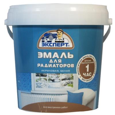 Эмаль д/радиаторов акриловая 2,5 кг белая п/матовая Эксперт