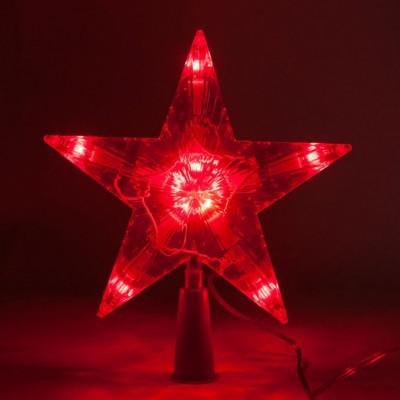 Гирлянда макушка S-2K звезда Красная 30л 25 см