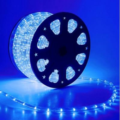 Дюралайт синий свечение с динамикой 3W 220В 1.6Вт/м d13мм IP44 Космос KOC-DL-3W13-B