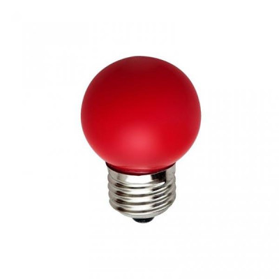 Светодиодная лампа HOROZ 1W E27 Красная 001-017-0001
