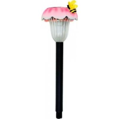 """Светильник садовый Feron GL17 """"Пчела на цветке"""" на солнечной батарее, 1 белый LED"""