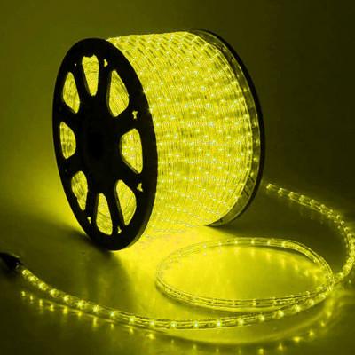 Дюралайт светодиод.NEON-NIGHT 13мм, желт. 2,4Вт/м IP54( круглый)