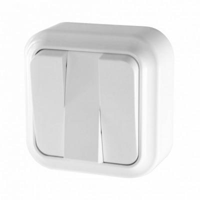Выключатель 3-кл ОУ А056-137 белый 80/108