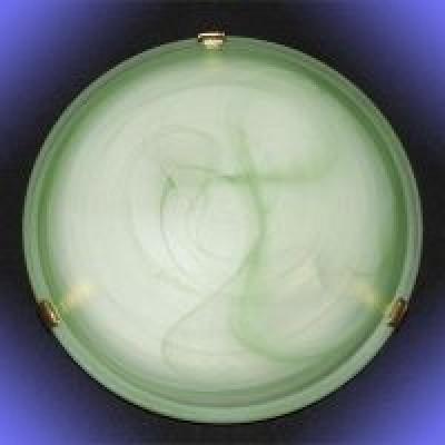 """Светильник """"Дюна"""" 1701 Блик-гладкий d300 зеленый/глянец 2*60W E27"""