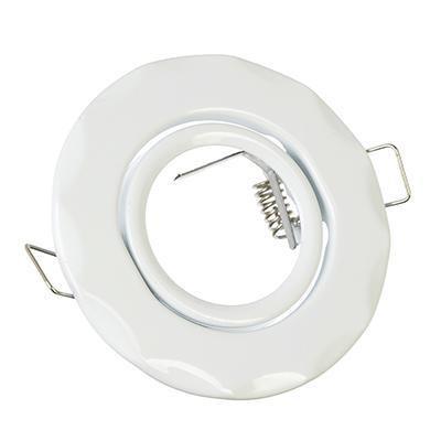 FOPZA Светильник встраиваемый №5 MR16 d90мм,волнообразный с рег, угл,белый