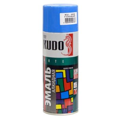 Аэрозольная эмаль универсальная голубая KU-1010