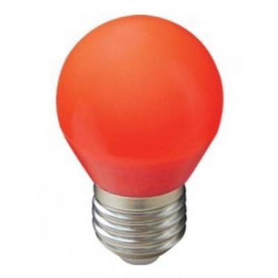 Лампа Ecola св/д шар G45 E27 5W Красный матов
