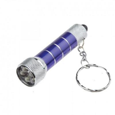 ЧИНГИСХАН Фонарик-брелок 7 LED, 3xAG13, алюминий, 6,7х1,2 см