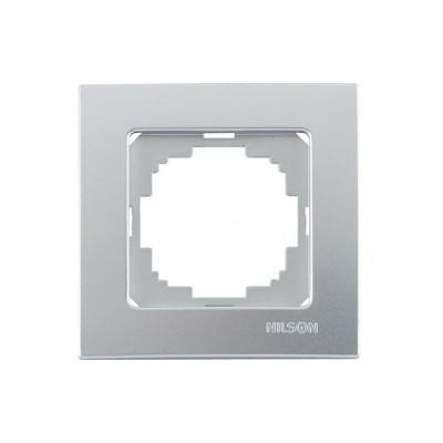 Рамка 1-я серебро. NILSON Touran metallic