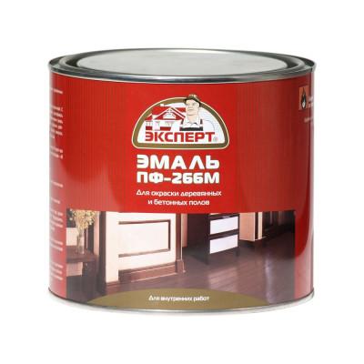 Эмаль ПФ-266М красно-коричневая 1,9кг Эксперт