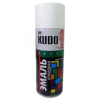 Аэрозольная эмаль универсальная белая матовая KU-1101